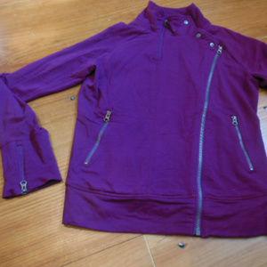 ATHLETA S Asymmetrical Moto Zip Jacket